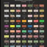 Hotfix Resin chaton colours sheet