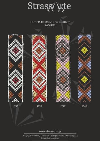 Hotfix crystal beads sheet